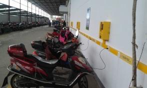 南京恒大地产物业充电站安装现场