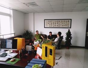 安徽芜湖周总、巫总一行来三江总部考察合作充电站项目