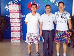 安徽芜湖许总来总部考察合作电动车充电站项目